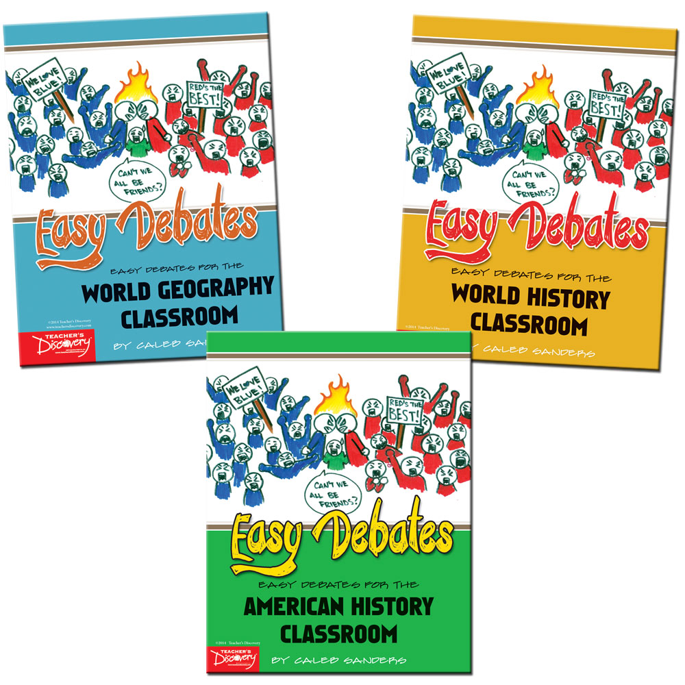 Easy Debates for the Classroom Activity Books Set of 3