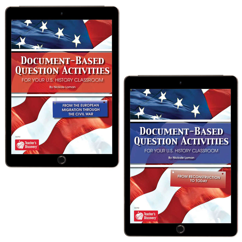 Document-Based Question Activities for U.S. History Set of 2 Books - Document-Based Question Activities for U.S. History Set of 2 Print Books