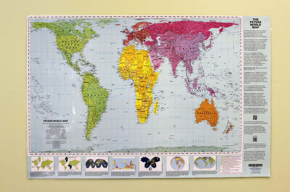 Wall maps teachers discovery peters map with panels gumiabroncs Image collections