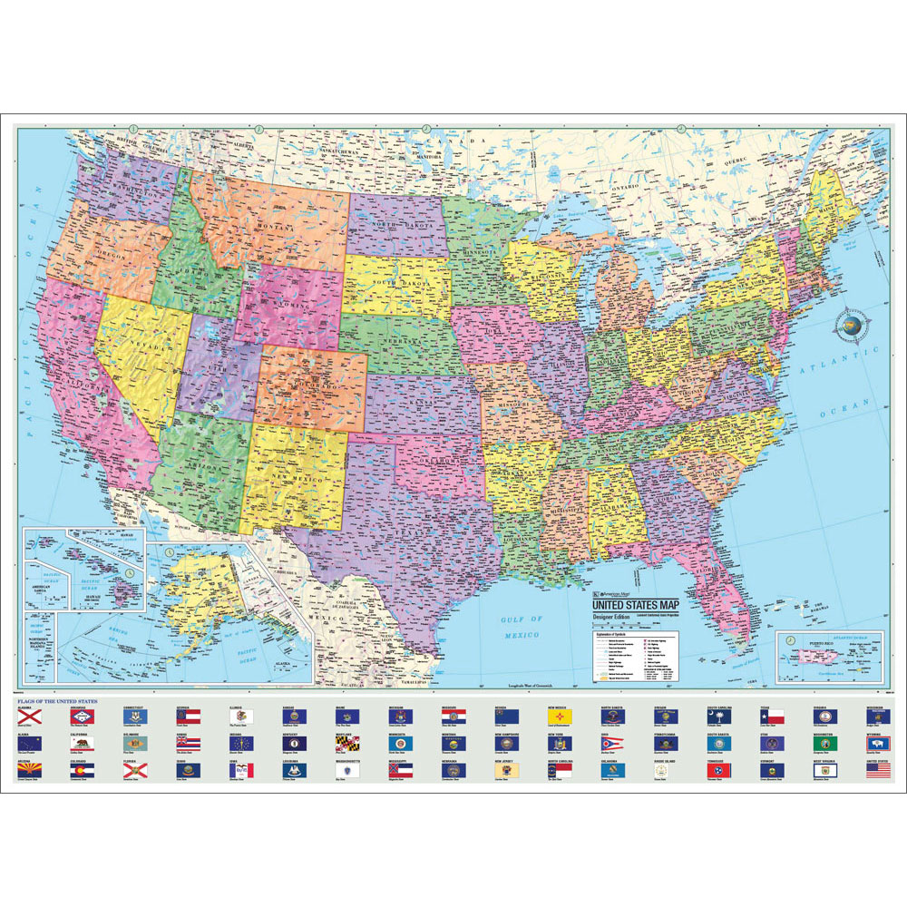 The Us Advanced Political Map Social Studies Teachers Discovery - Big-map-of-us