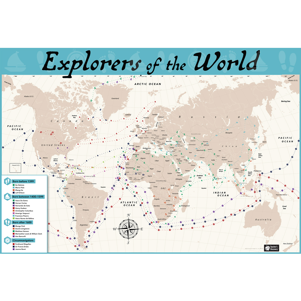 Explorers of the World Map