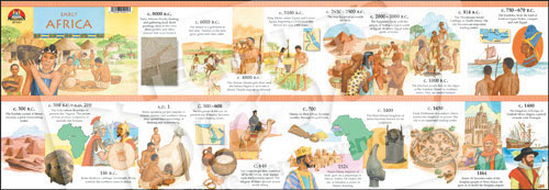 image about Ancient Civilizations Timeline Printable called Early Africa Timeline