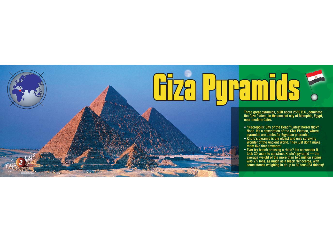 Giza Pyramids Panoramic Poster