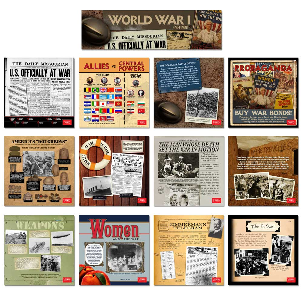 World War I Mini-Poster Set of 12