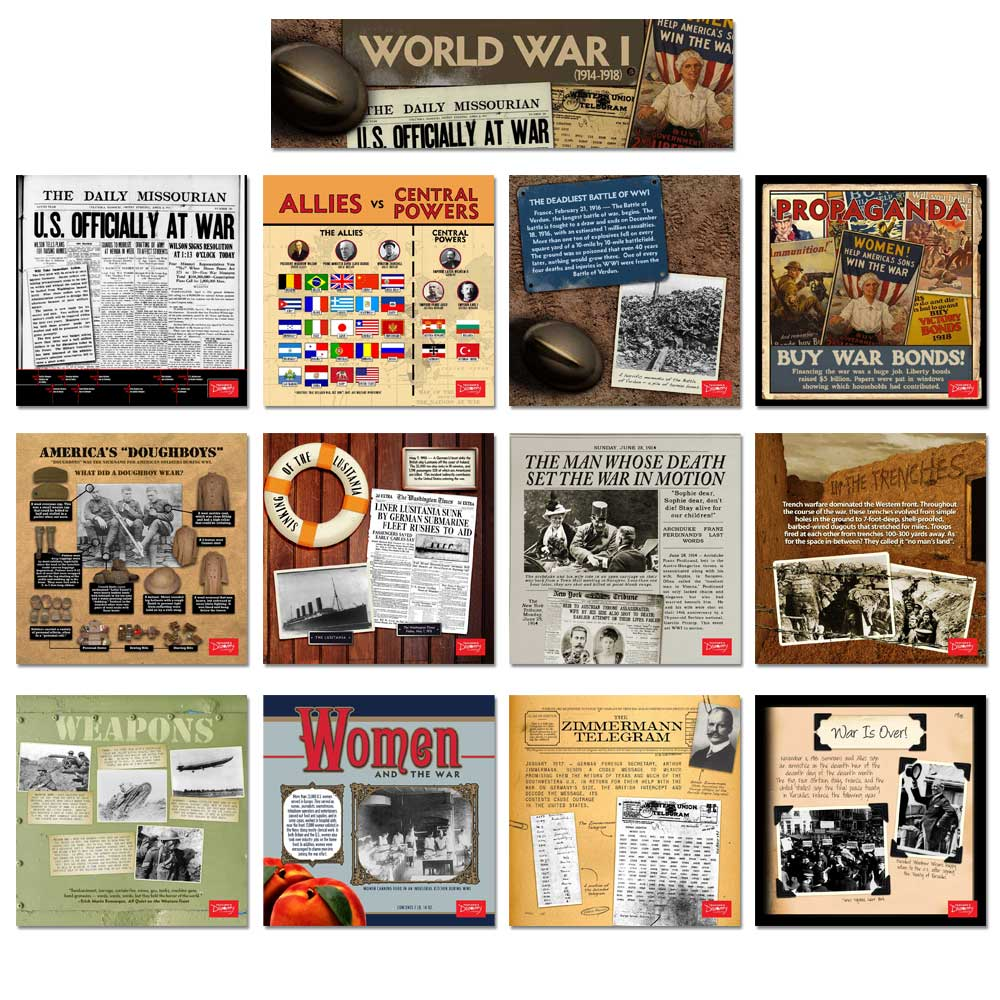 World War I Mini-Poster Set of 12