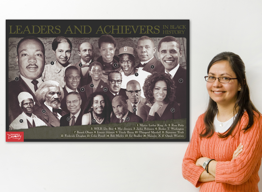 Leaders and Achievers in Black History Poster