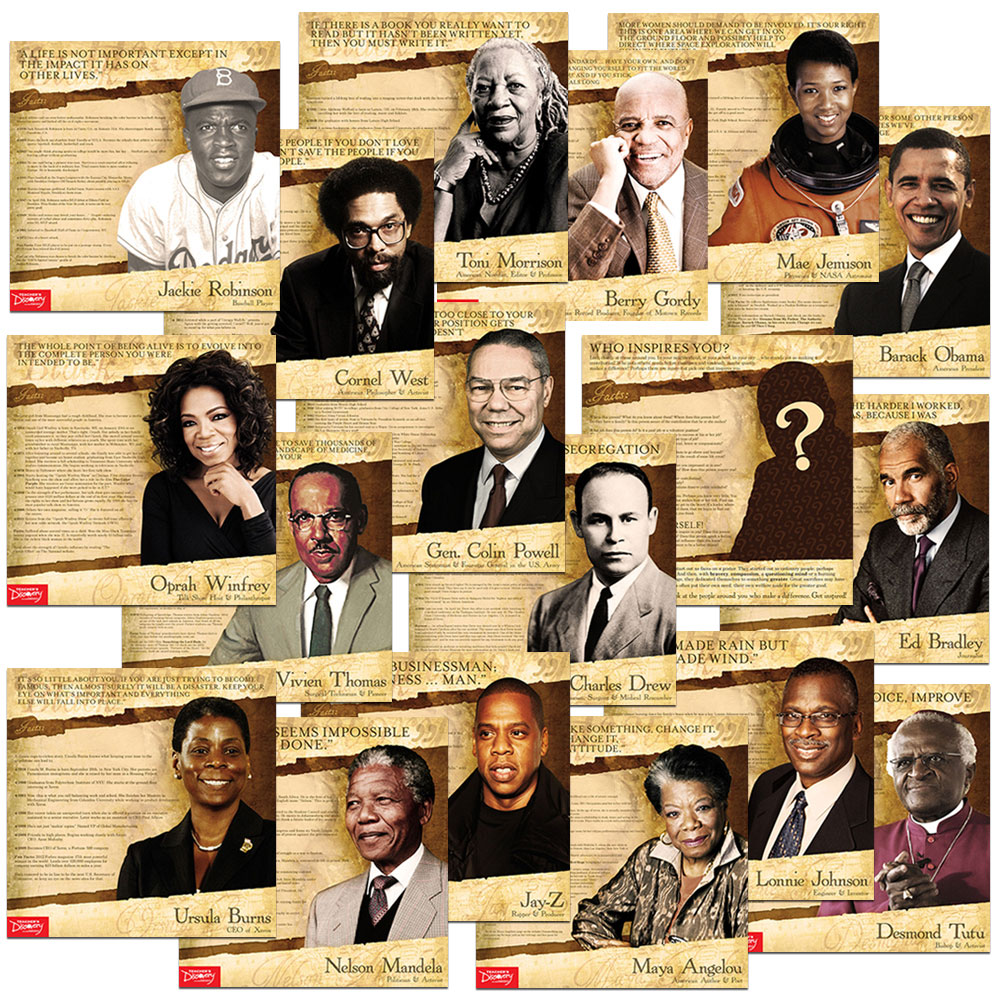 Black History Mini-Poster Set of 18
