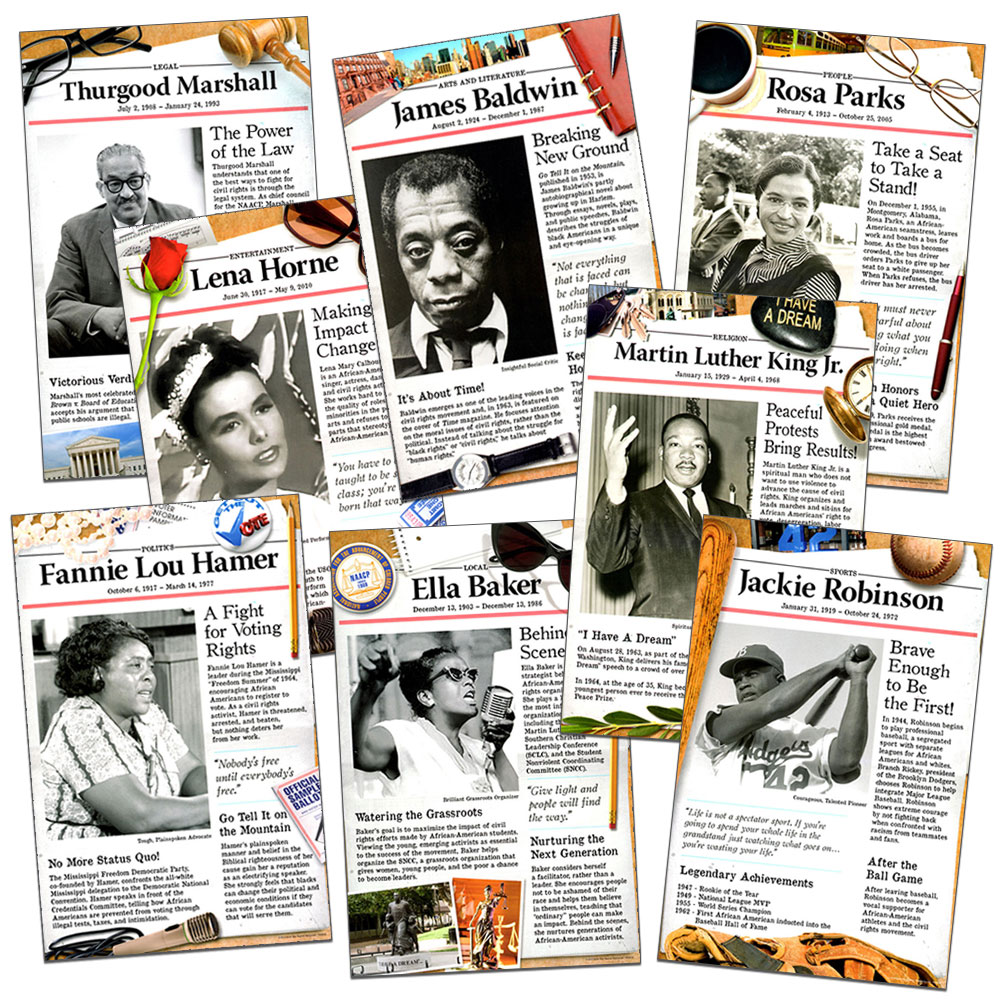 Civil Rights Pioneers Poster Set