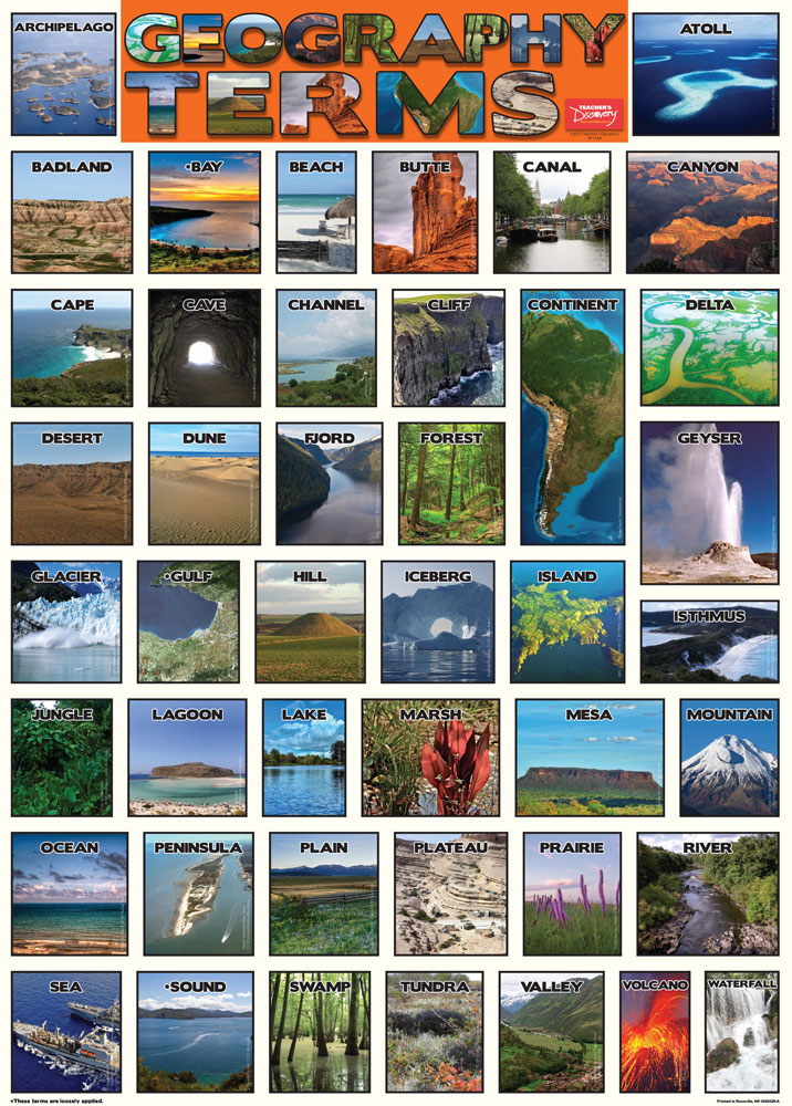Geography Terms Poster & Downloadable Activity Packet