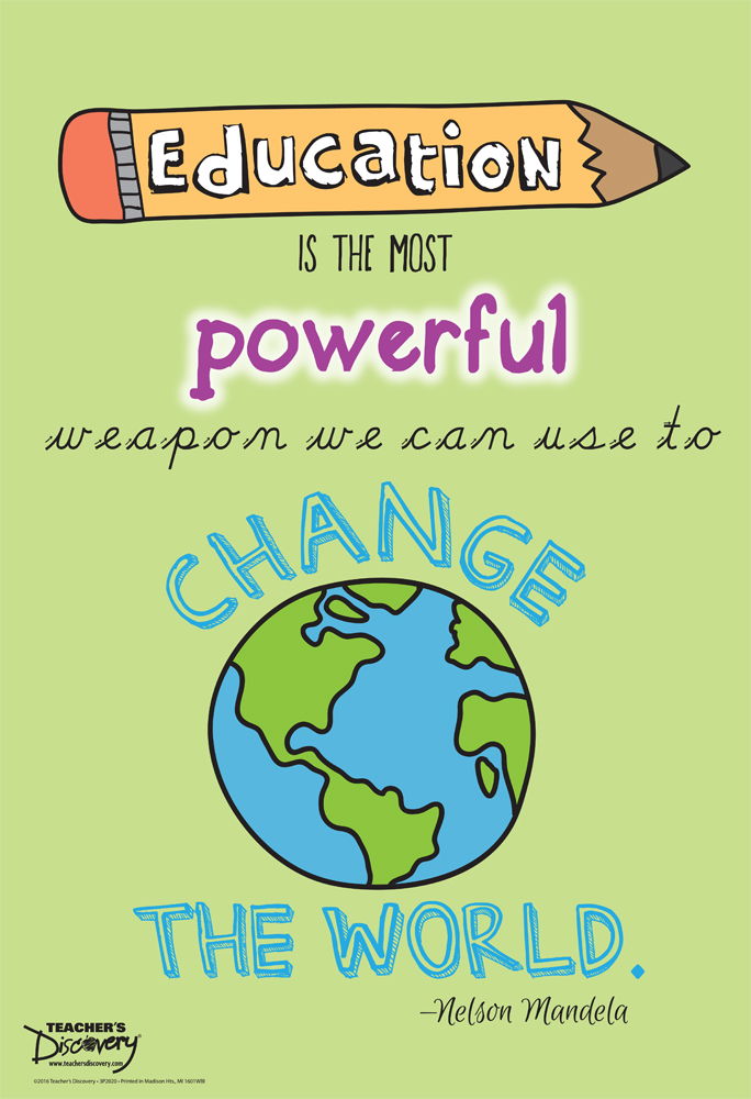 Education Is The Most Powerful Weapon Mini Poster