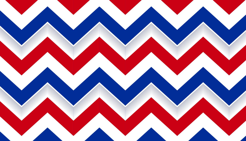 Patriotic Chevron Border Set of 12 Strips