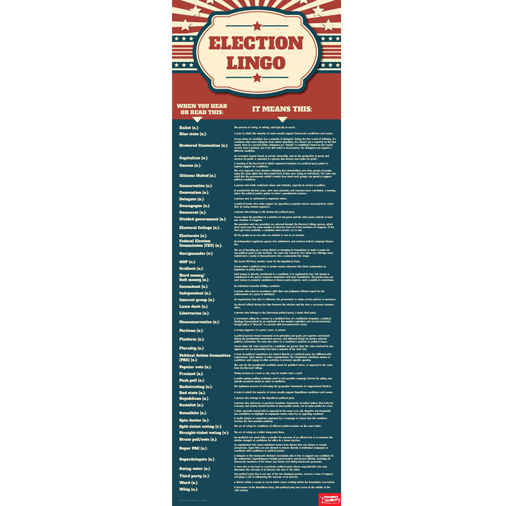 Election Lingo: Commonly Used Terms and Definitions Chart