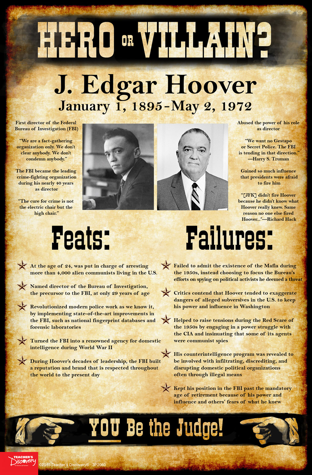 J. Edgar Hoover: Hero or Villain? Mini-Poster
