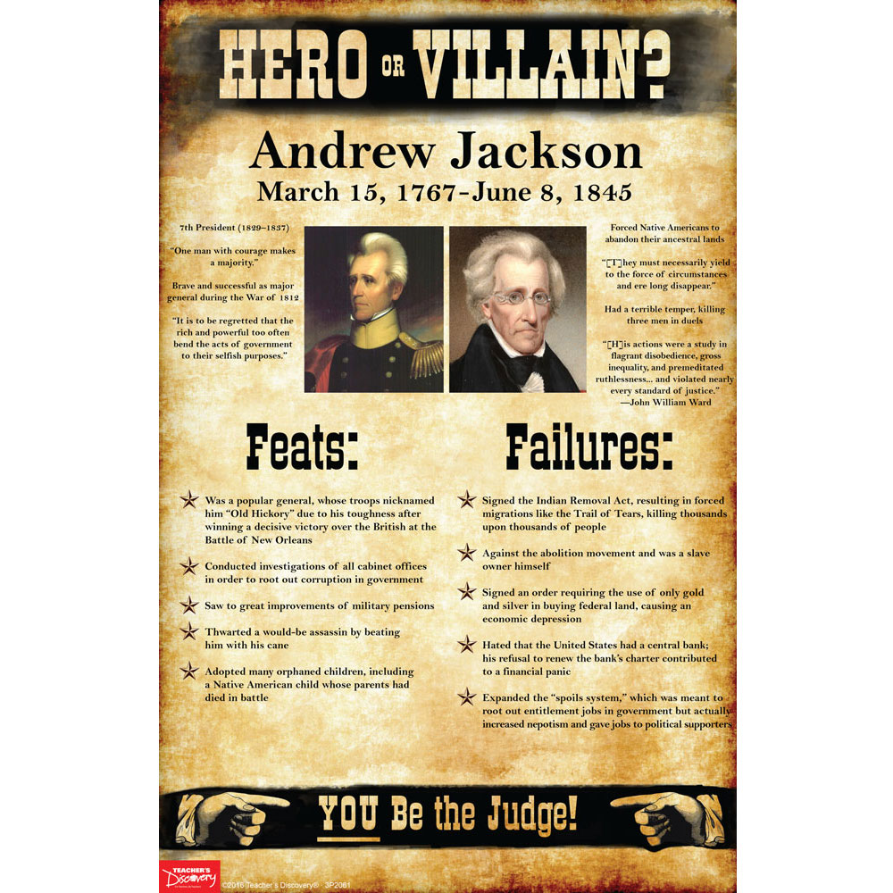 Andrew Jackson: Hero or Villain? Mini-Poster