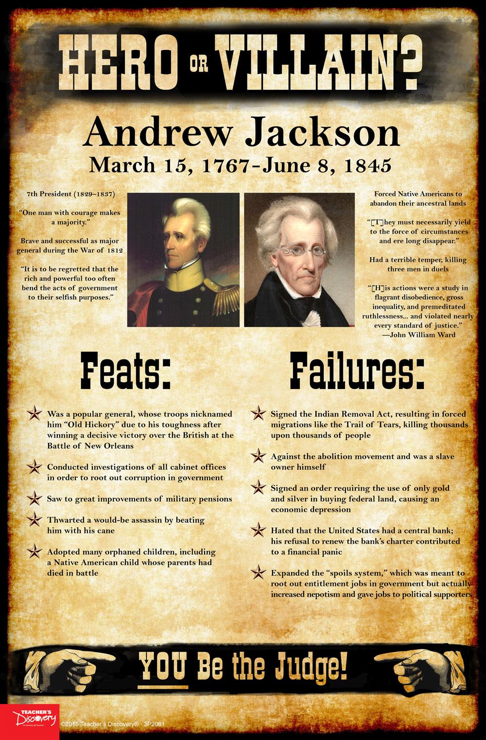 Andrew Jackson Hero Or Villain Mini Poster Social
