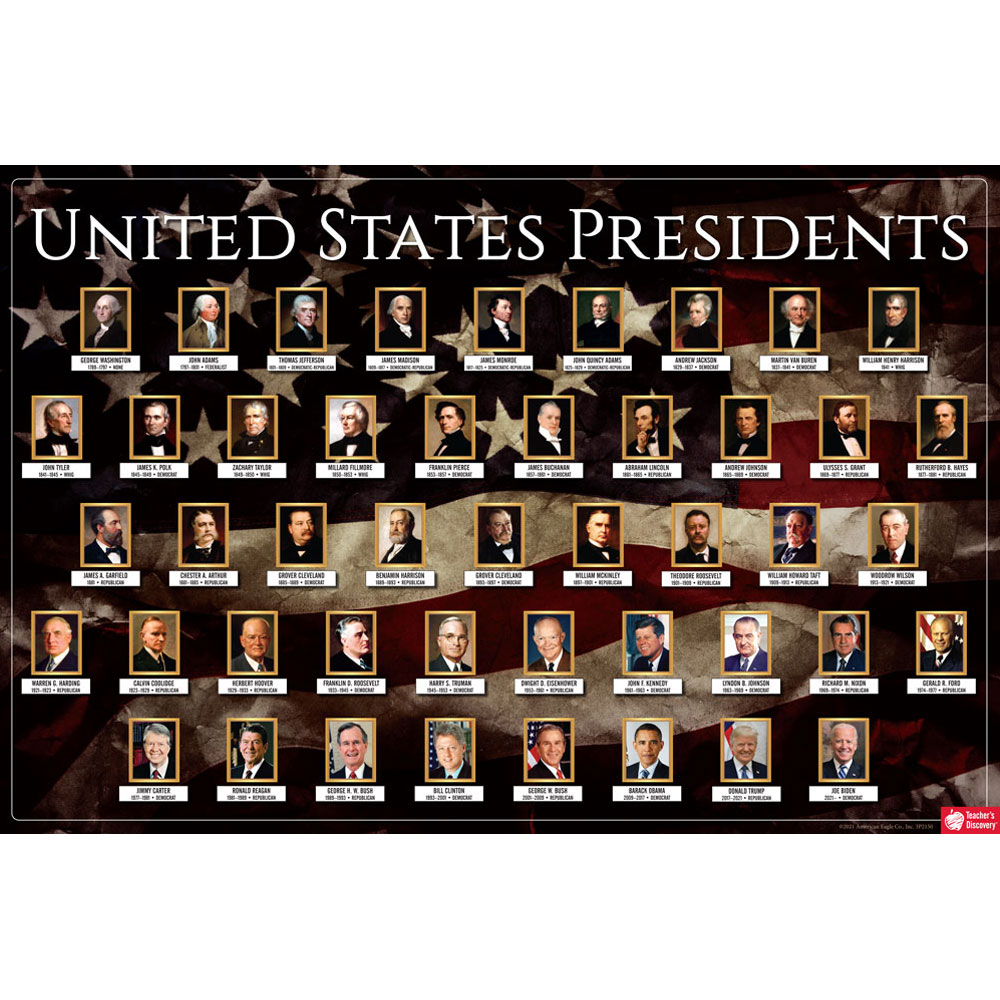 U.S. Presidential Portraits Poster