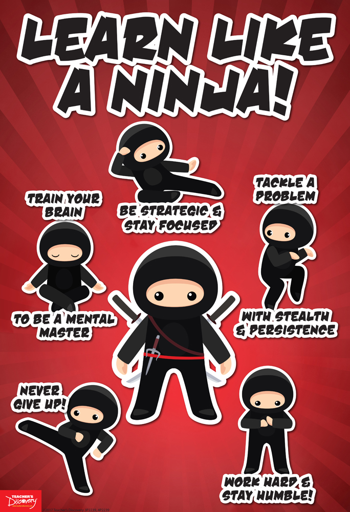 Learn Like a Ninja English Mini-Poster