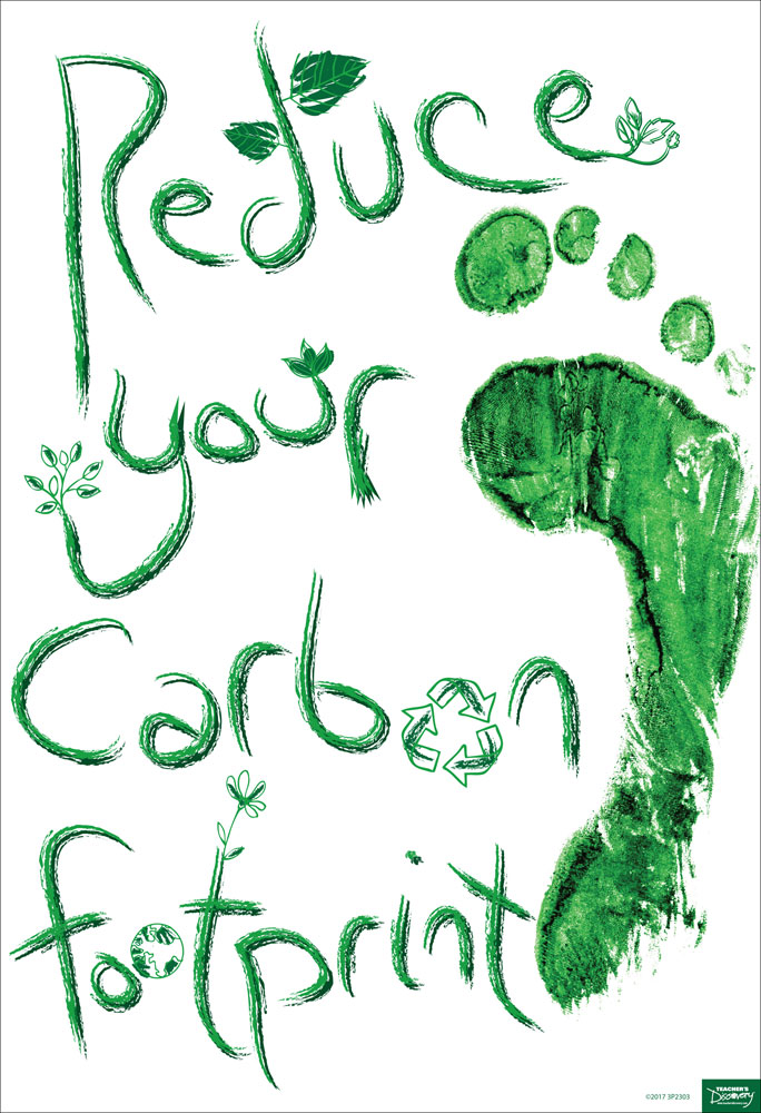 Reduce Your Carbon Footprint Mini-Poster