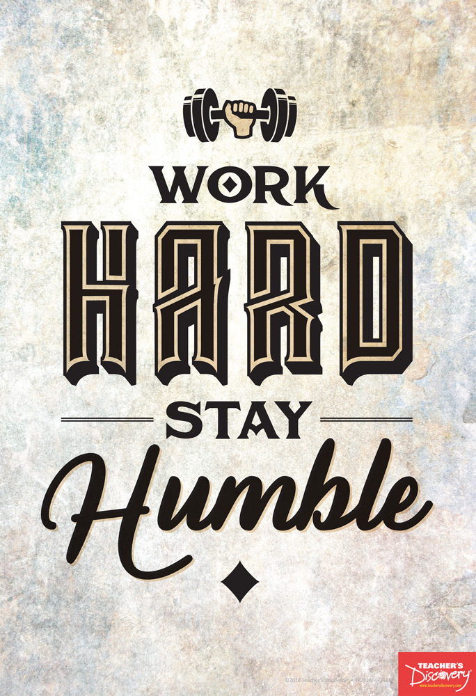 Work Hard Stay Humble English Mini-Poster