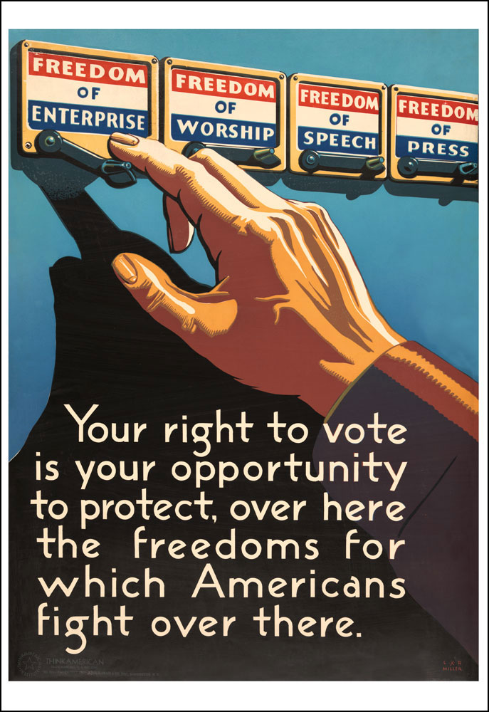 WPA Your Right to Vote Mini-Poster