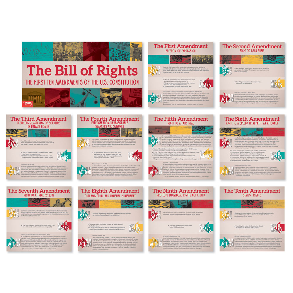 Bill of Rights In Action Mini-Poster Set