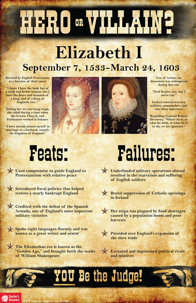 Elizabeth I: Hero or Villain? Mini-Poster