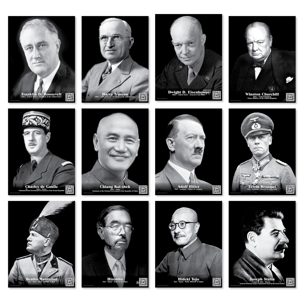 Faces of World War II Enhanced™ Mini-Poster Set