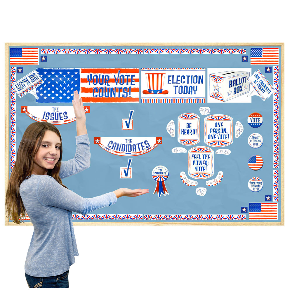 Your Vote Counts! Mini-Bulletin Board Set