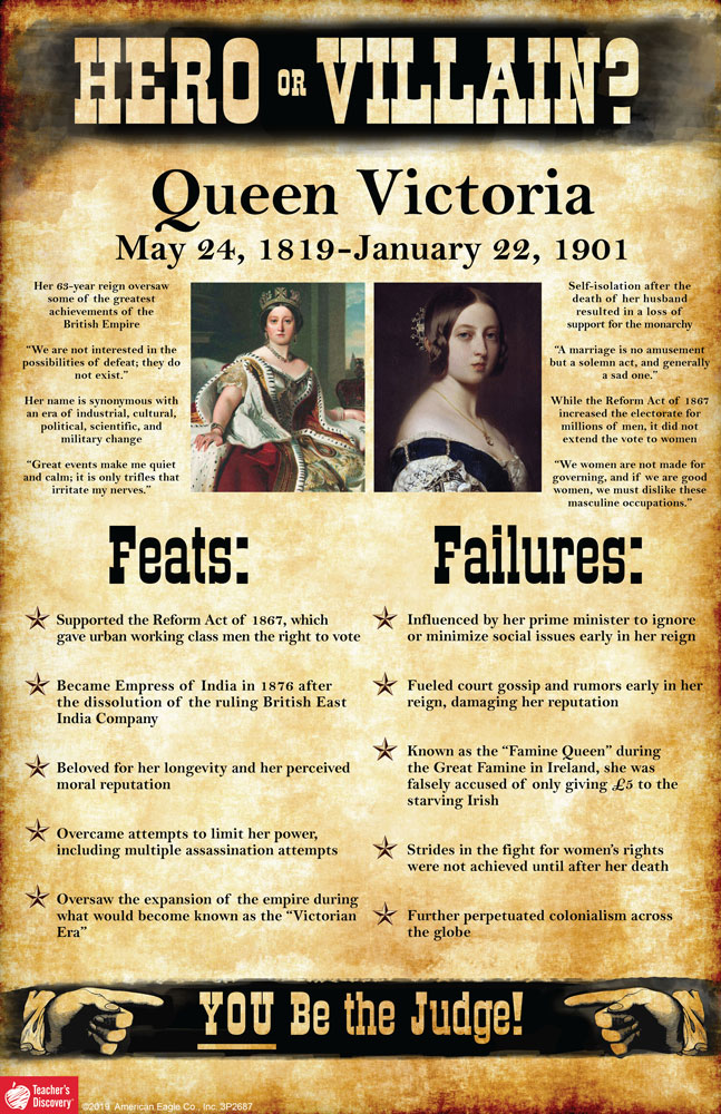 Queen Victoria: Hero or Villain? Mini-Poster