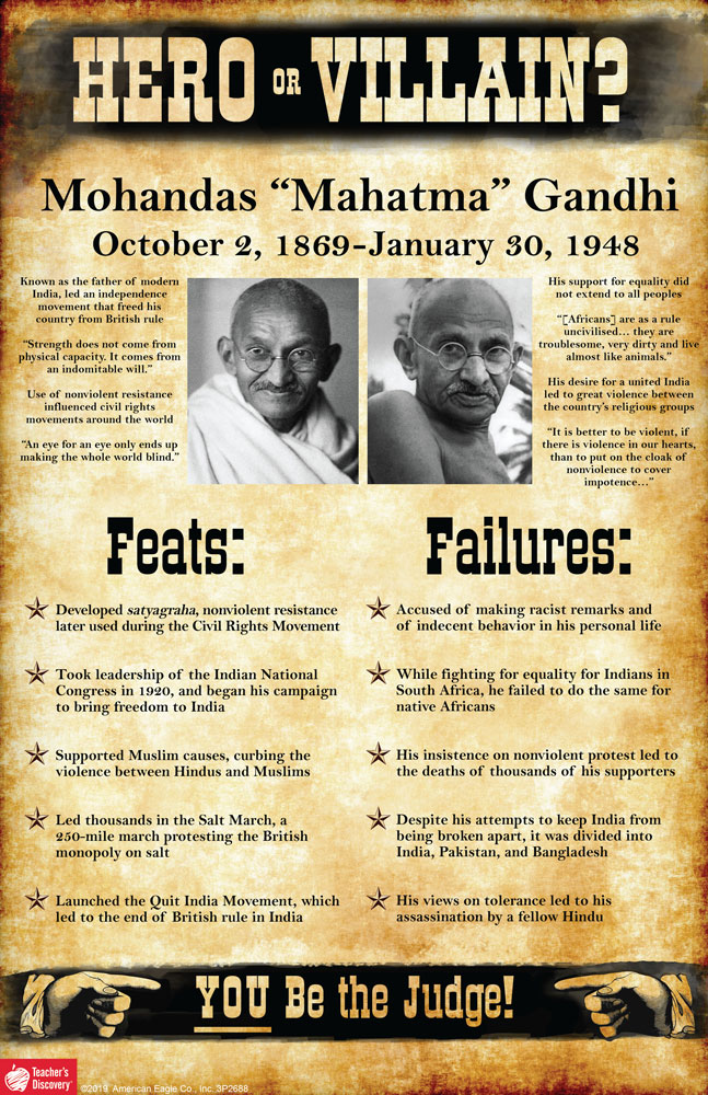 Mohandas Mahatma Gandhi: Hero or Villain? Mini-Poster