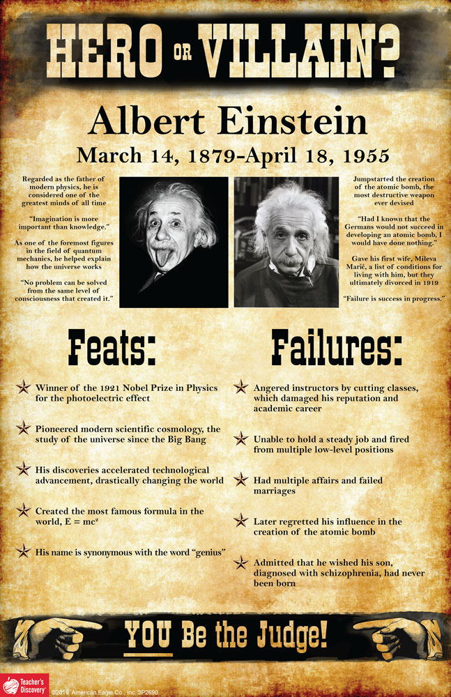 Albert Einstein: Hero or Villain? Mini-Poster