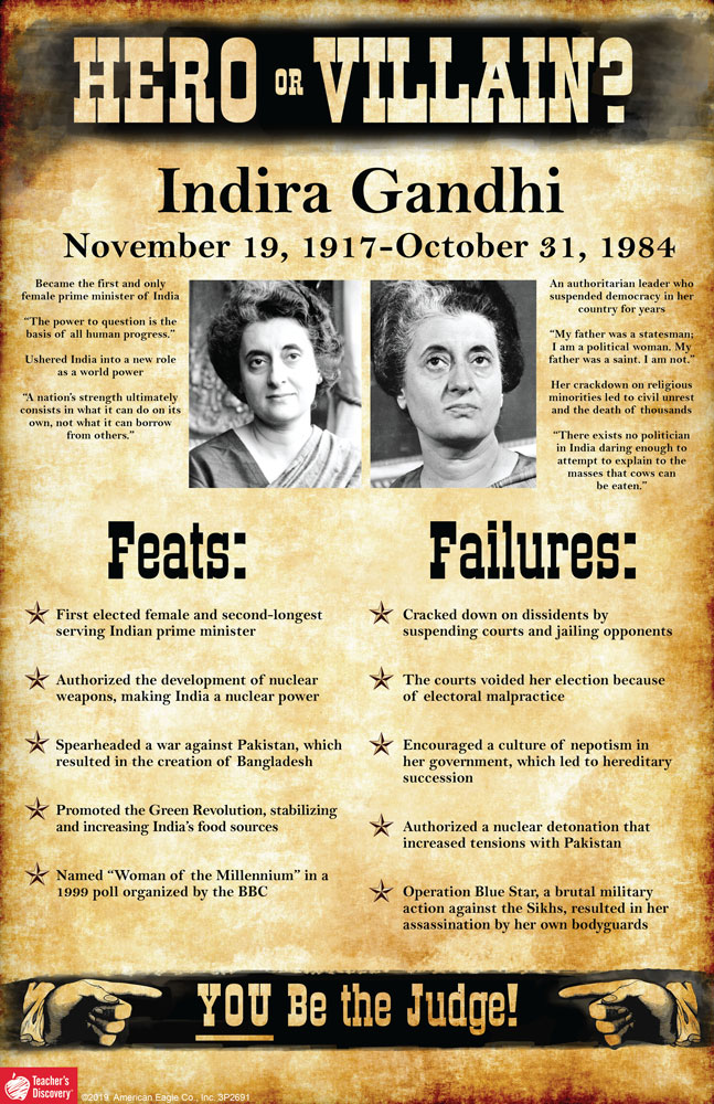 Indira Gandhi: Hero or Villain? Mini-Poster