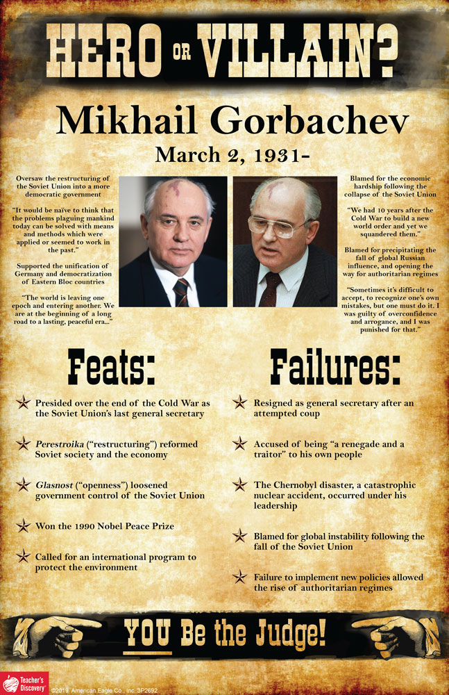 Mikhail Gorbachev: Hero or Villain? Mini-Poster