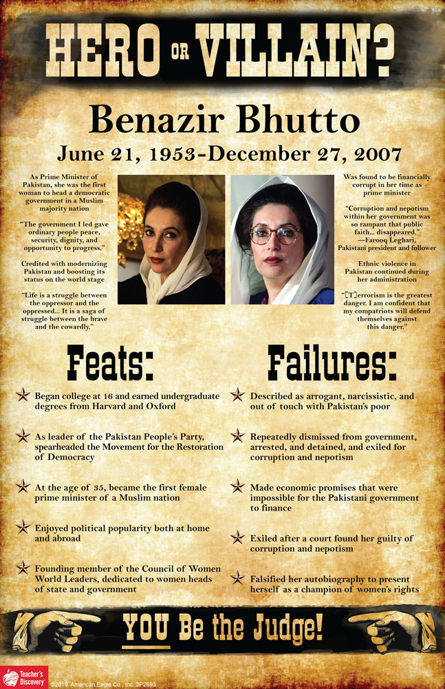 Benazir Bhutto: Hero or Villain? Mini-Poster
