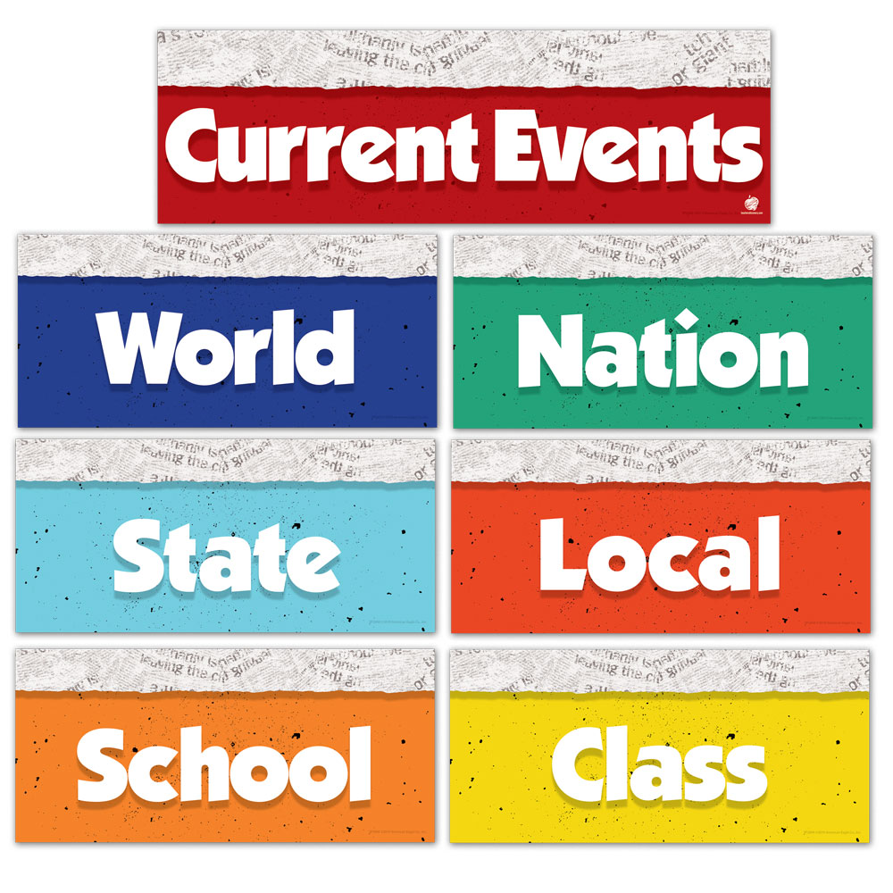 Current Events Bulletin Board Set