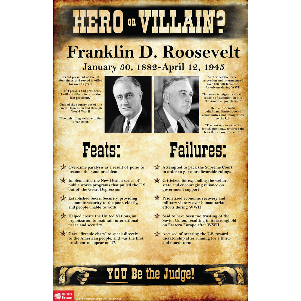 Franklin D. Roosevelt: Hero or Villain? Mini-Poster