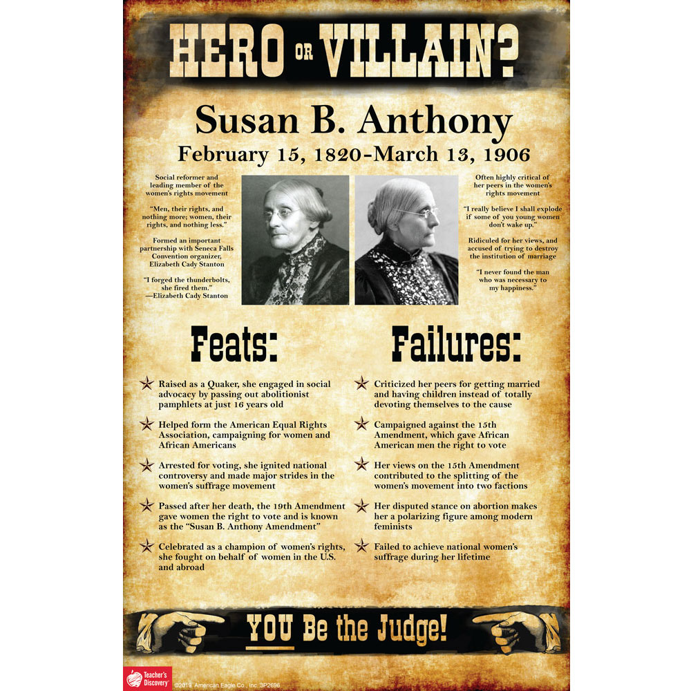 Susan B. Anthony: Hero or Villain? Mini-Poster