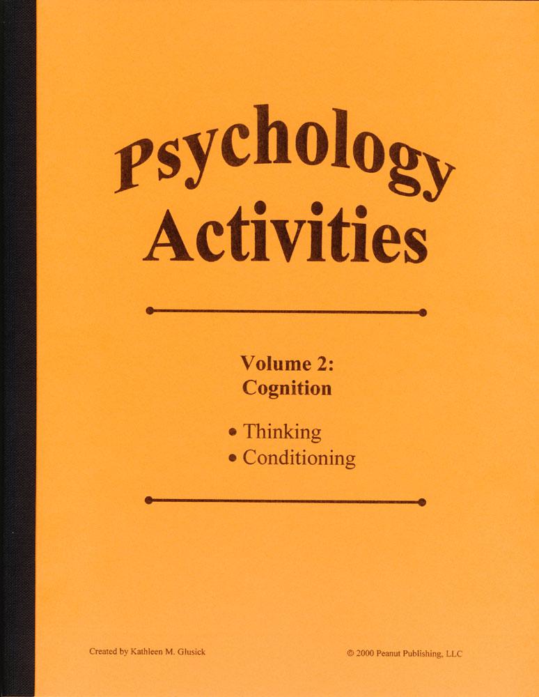 Psychology Activities: Volume 2, Cognition Book