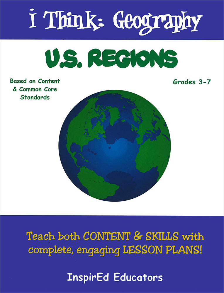 i Think: Geography, U.S. Regions Activity Book