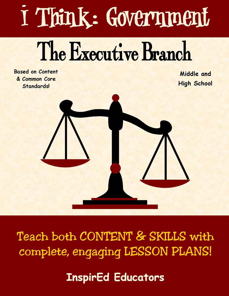 i Think: Government, The Executive Branch Activity Book