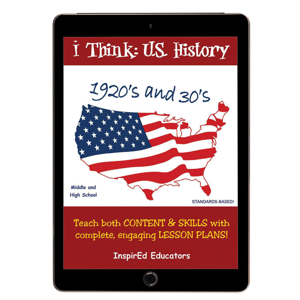 i Think: U.S. History, 1920s and 30s Activity Book