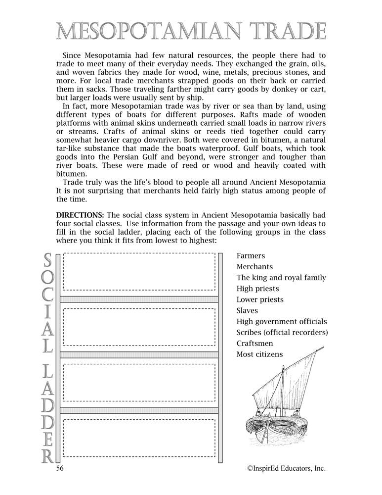 i Think: World History, Ancient Mesopotamia Activity Book