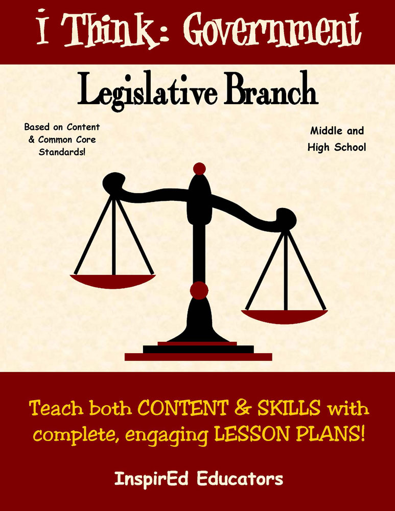 i Think: Government, The Legislative Branch Activity Book