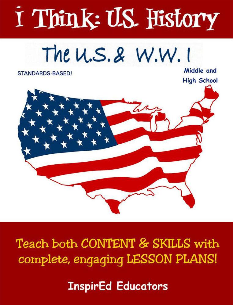 i Think: U.S. History, The U.S. & WWI Activity Book