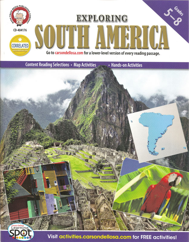 Exploring South America Activity Book
