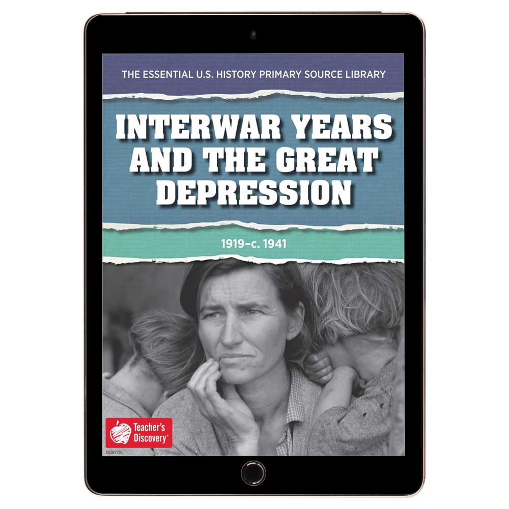 The Essential U.S. History Primary Source Library: Interwar Years and the Great Depression Download