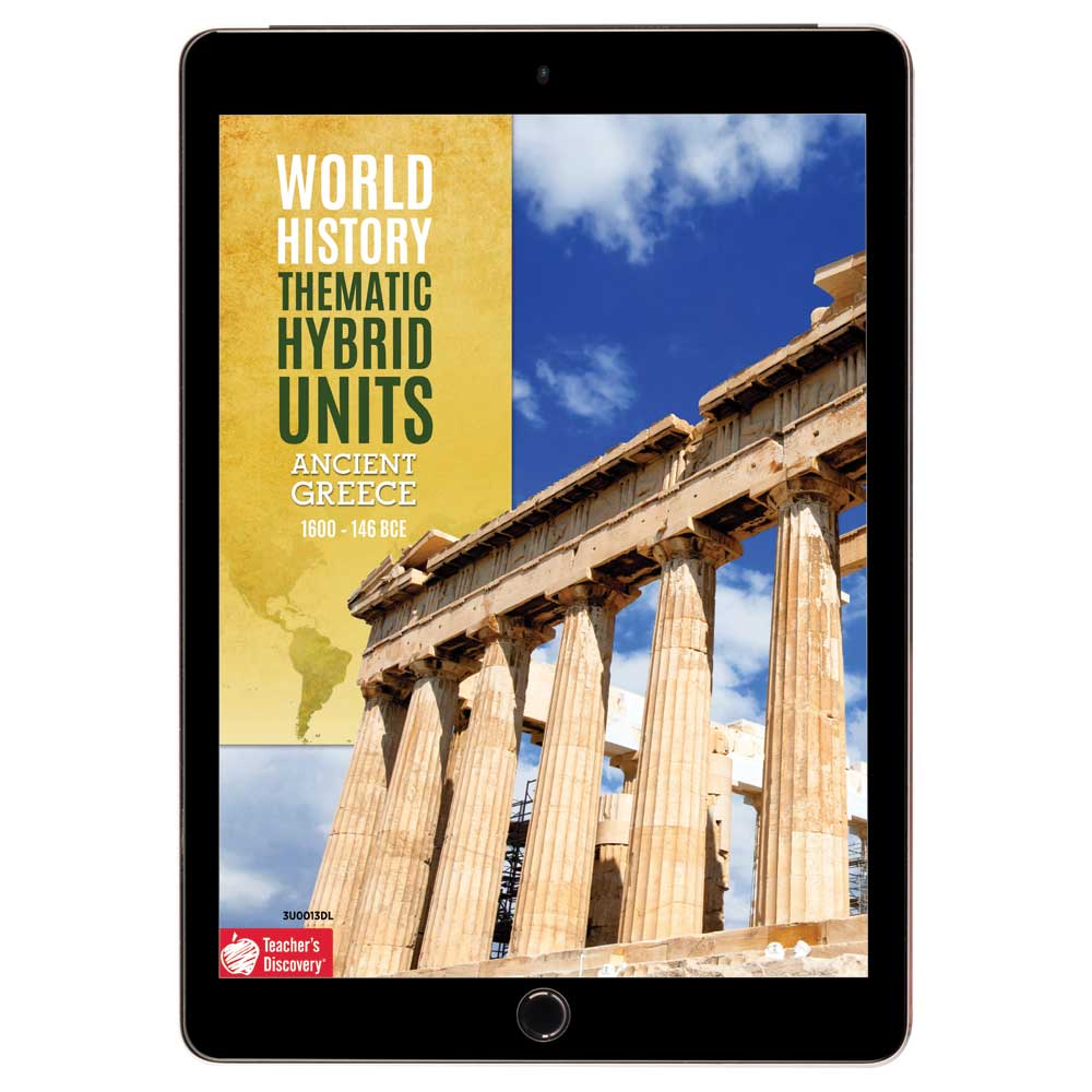 World History Thematic Hybrid Unit: Ancient Greece Download - Hybrid Learning Resource