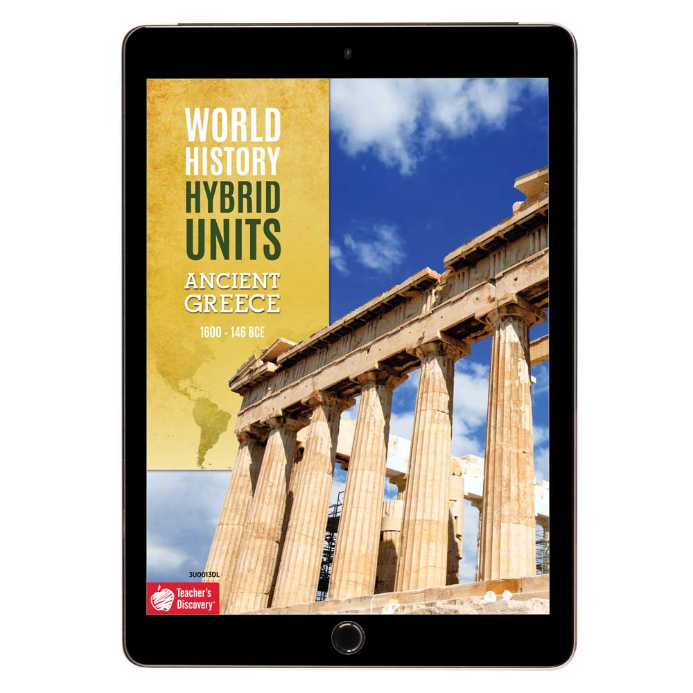 World History Hybrid Unit: Ancient Greece Download - Hybrid Learning Resource