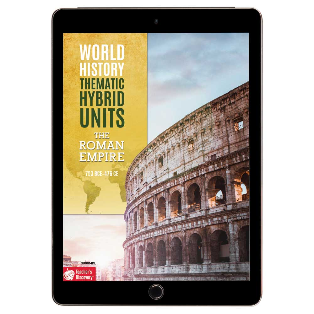 World History Thematic Hybrid Unit: The Roman Empire Download - Hybrid Learning Resource
