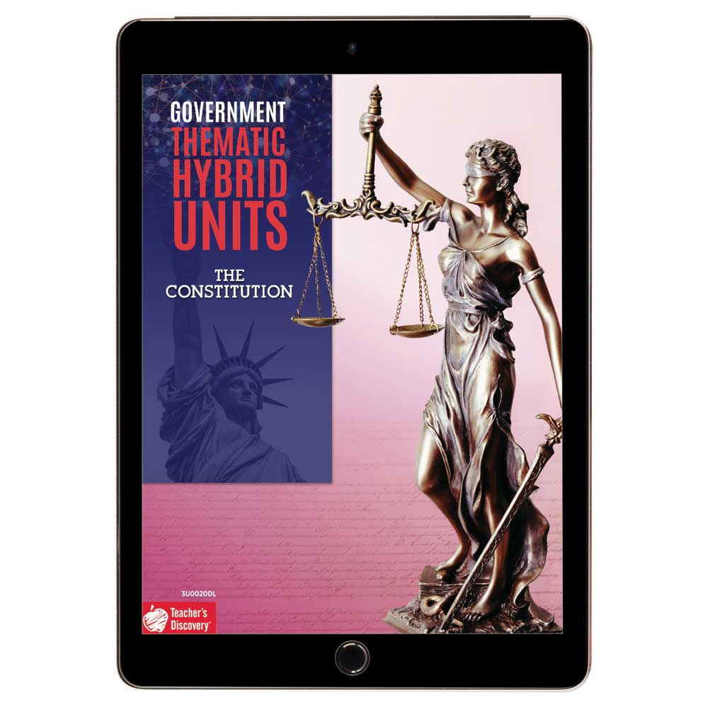 Government Thematic Hybrid Unit: The Constitution Download - Hybrid Learning Resource